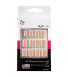Ongles - Nail art - Faux ongles - Kit 24 faux ongles Idyllic nails - French-fine - Réf. 150071