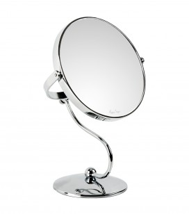 Miroir double face grossissant x10 sur pied
