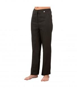 Accessoires pro - Accessoires et linge cabine - Pantalon esthétique noir L - Réf. 160321