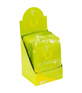 Accessoires pro - Présentoirs - Présentoir 15 chaussettes exfoliantes - Réf. 550376