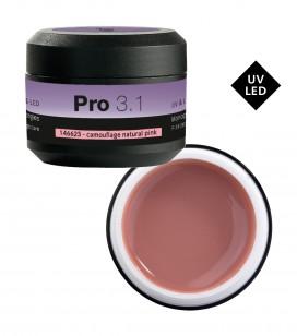 Ongles - Prothésie ongulaire - Gels - Pro 3.1 Gel monophase UV&LED 15 g Camouflage Natural Pink - Réf. 146623