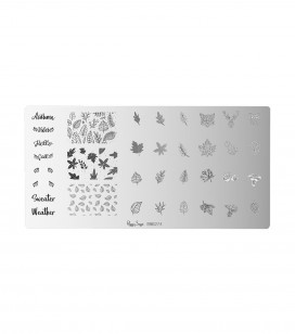 Ongles - Nail art - Stamping - Plaque de stamping nail art - Autumn - Réf. 898274
