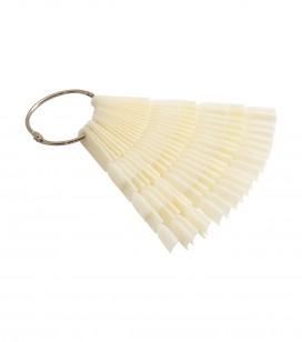 Ongles - Accessoires - Entraînement - présentation - Nuancier éventail - 60 ongles à décorer - Natural - Réf. 142527