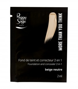 Maquillage - Teint - Fonds de teint - Echantillon -More than you think - FDT & correcteur 2 en 1 - Beige neutre - Réf. 810506