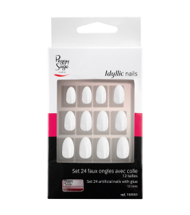 Ongles - Nail art - Faux ongles - Kit 24 faux ongles Idyllic nails - Stiletto chic - Réf. 150053