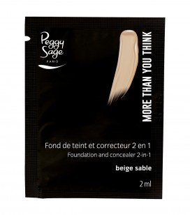 Maquillage - Teint - Fonds de teint - Echantillon -More than you think - FDT & correcteur 2 en 1 - Beige sable - Réf. 810521