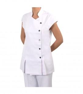 Accessoires pro - Accessoires et linge cabine - Blouse esthétique blanche S - Réf. 160309