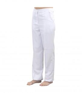 Accessoires pro - Accessoires et linge cabine - Pantalon esthétique blanc L - Réf. 160314