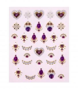 Ongles - Nail art - Décors pour ongles - Décors adhésifs pour ongles luxury - Réf. 149290