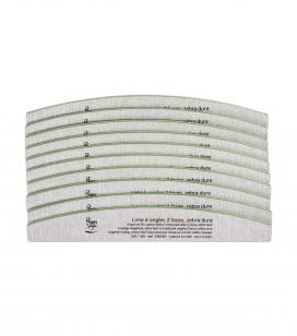 Nägel - Accessoires - Feilen - Set 10 2-seitige sichelförmNagelfeile, zebra hart 100/180 - Art.-Nr. 122767