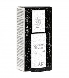 Nägel - Semi-permanente nagellacke - Base - top coat i-lak - Top Coat Glitter silver - Art.-Nr. 191811