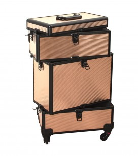 Make-up - Accessoires - Tassen en koffers - Studio Trolley-Koffer für Profis - light gold - Art.-Nr. 201201