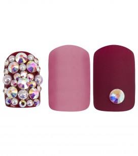 Nägel - Nagelkosmetikerin - Künstliche nägel - Set 24 Kunstnägel mit Nail Patches - pink harmony - Art.-Nr. 151503EC