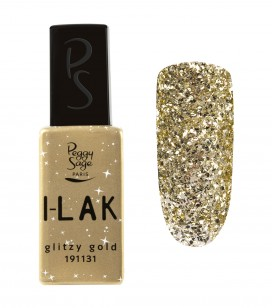 Nägel - Semi-permanente nagellacke - I-lak - glitzy gold - Art.-Nr. 191131
