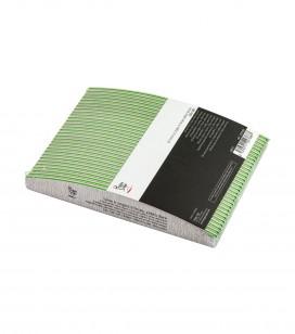 Nägel - Accessoires - Feilen - Set 30 2-seitige sichelförmNagelfeile, zebra hart 100/180 - Art.-Nr. 122768