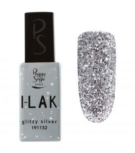 Nägel - Semi-permanente nagellacke - I-lak - glitzy silver - Art.-Nr. 191132