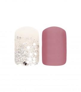 Ongles - Prothésie ongulaire - Faux ongles - Set 24 faux ongles avec patch - pink sparkle - Réf. 151502EC