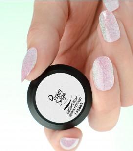 Ongles - Prothésie ongulaire - Gels - blanc reflets rose/vert - Réf. 146863