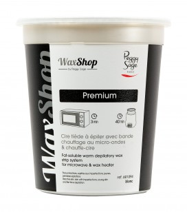 épilation - Cire - Cire tiède - Cire tiède à épiler avec bande chauffage au micro-ondes & chauffe-cire Blanc - Réf. 601094
