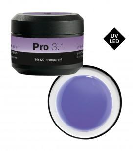 Ongles - Prothésie ongulaire - Gels - Pro 3.1 Gel monophase UV&LED 15 g Transparent - Réf. 146620