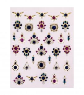 Ongles - Nail art - Décors pour ongles - Décors adhésifs pour ongles luxury - Réf. 149291