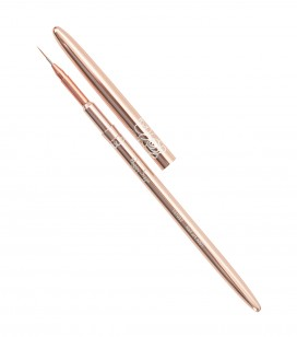 Ongles - Accessoires - Pinceaux - Pinceau nail art Rose gold - Liner long - Taille 001 - Réf. 141032