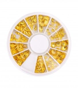 Ongles - Nail art - Strass pour ongles - Carrousel décors pour ongles - Summer Gold - Réf. 149979