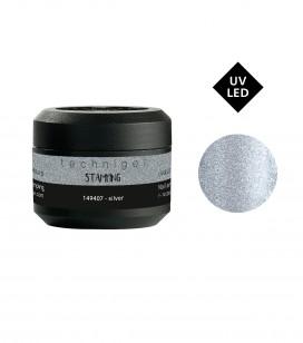 Ongles - Nail art - Stamping - Stamping gel - silver - Réf. 149407