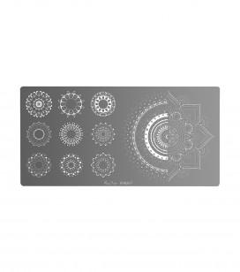 Ongles - Nail art - Stamping - Plaque de stamping nail art mandala - Réf. 898267