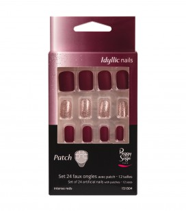 Ongles - Prothésie ongulaire - Faux ongles - Set 24 faux ongles avec patch - intense reds - Réf. 151504EC