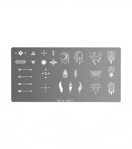Ongles - Nail art - Stamping - Plaque de stamping nail art ethnic - Réf. 898272