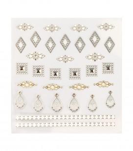 Ongles - Nail art - Décors pour ongles - Décors adhésifs pour ongles - Réf. 149238