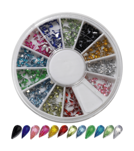 Ongles - Nail art - Strass pour ongles - Carrousel décors pour ongles - drops - Réf. 149912