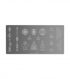 Ongles - Nail art - Stamping - Plaque de stamping nail art minimal - Réf. 898271
