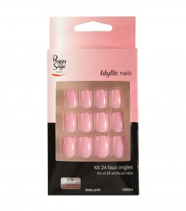 Ongles - Prothésie ongulaire - Faux ongles - Set 24 faux ongles Idyllic nails - baby pink - Réf. 150054