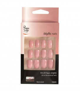 Ongles - Prothésie ongulaire - Faux ongles - Set 24 faux ongles Idyllic nails - rose wood - Réf. 150055
