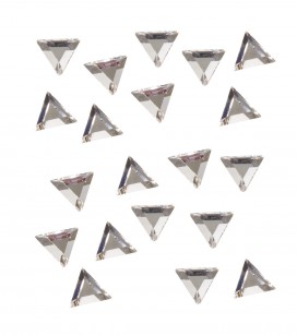 strass pour ongles triangle argent