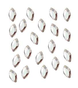 strass pour ongles navette argent