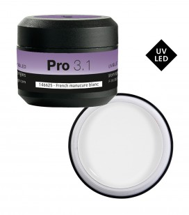 Ongles - Prothésie ongulaire - Gels - Gel UV & LED PRO 3.1 - French manucure blanc - Réf. 146625