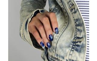 Nail art Effet Jean