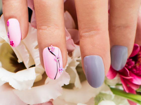 A nail artist