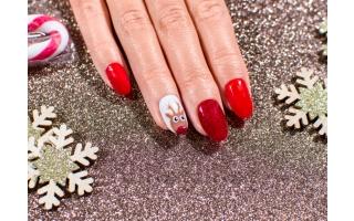 Nail Art Renne de Noël