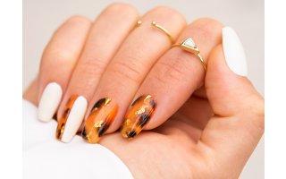 Nail art écaille de tortue