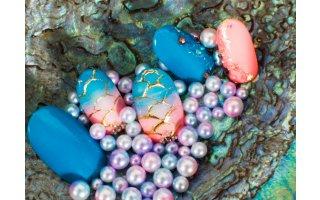 Nail Art eaux tropicales