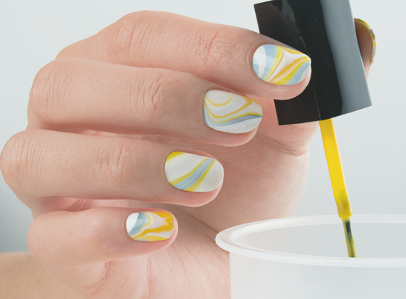 Nail Art Tutorial Water Marble Peggy Sage