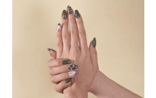 Camouflage look met gel en semi-permanente nagellak